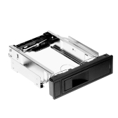 "Tool-Free 3.0Gb/s S-ATA II HDD-ROM Internal 3.5"" SATA HDD Frame Mobile Rack Tray Enclosure Docking Station Hot Swap Drive Bay Trayless Design Internal HDD Case 3.5in Hard Drive Box"