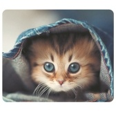 CAT-1マウスパッドかわいい猫絵PCコンピュータラップトップMackBook用滑り止めゲーミングマウスマット