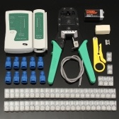 Ethernet LAN Kit Cable Fine Quality Crimper Crimping Tool Wire Stripper RJ45 Cable Tester