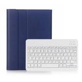 BT3.0 Wireless Keyboard Case iPad-Schutzhülle Tragbare Tastatur für iPad Pro 10.5 / iPad Air3 10.5 / iPad 10.2 (2019) (Blau-Weiß)