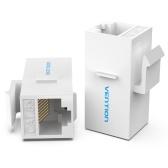 Vention VDD-B07-W RJ45-Stecker Cat.5e UTP-Keystone-Buchsenkoppler für Netzwerkkabelverlängerung Weiß 1 Stück