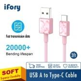 USB-AからUSB-Cへのデータケーブル安定したデータ伝送急速充電ラインワイドアプリケーション