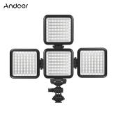 Andoer W49S Mini ściemnialne światło wypełniające LED wideo + z obrotową nasadką do mocowania obuwia