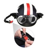 Casco de la motocicleta con gafas Casco de la visera de la bufanda Touring para Harley + Máscara Desmontable Gafas y filtro de la boca para el casco abierto de la cara