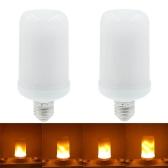 2PCS SMD2835 LED Flame Flickering Effect Light Bulbs