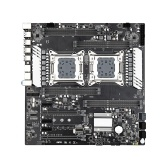 JINGSHA X79-S8D3 Dual Motherboard 8-channel DDR3 E-ATX Gaming Mainboard with Onboard M.2 Port Support LGA2011 V1/V2 Series CPU