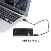 """2,5 """"SATA SSD HDD dysk twardy na USB 3.1 Type-C 10Gbps Converter Adapter Zewnętrzna aluminiowa obudowa Case Caddy + kabel USB"""