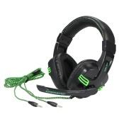 Salar KX101 3.5mm fone de ouvido com fio Headset HiFi Deep Bass Headphone com microfone