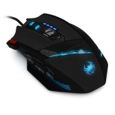 ZELOTES C-12 Wired USB Optical Gaming Mouse 12 Programmable Buttons Computer Game Mice 4 Adjustable DPI 7 LED Lights for Game Players