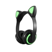LED Cat Ear ZW-19 Headset RGB 7-Color Lights Casque antibruit BT 4.2 Kids Earphone Prise en charge de 3,5 mm