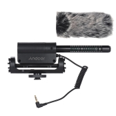 Andoer Recording Condenser Microphone  + Large Size Furry Wind Muff