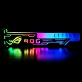 RGB25 RGB Graphics Card Stand Colorful Horizontal 12V 4Pin Supply with LED Light Card Holder