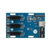 PCI-E 1X Expansion Kit 1 to 3 Ports Switch Multiplier Hub Riser Card with USB 3.0 Cable Pcie Mining Modules