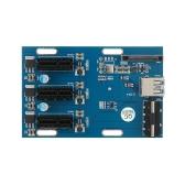 Zestaw rozszerzeń PCI-E 1X 1 do 3 portów Złącze krosownicy z kablem USB 3.0 Kable Pcie Mining