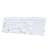 Portable Wireless Bluetooth Keyboard Ultra Slim Keyboard with Touch Pad for IOS Android Windows Tablet Smart Phone White