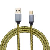 USB3.0 Tipo C Cable de carga Línea de datos Cable de datos USB Tipo C Cable de extensión para computadora Teléfono móvil Amarillo