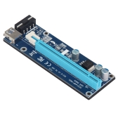 VER006S 0.6M PCI-E Riser Card PCI E USB 3.0 1x para 16x Graphics Express Card Riser Extender para Bitcoin Mining Miner Machine Blue