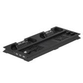 Wentylator pionowy Radiator z podwójnym stojakiem Podwójne sterowniki Stacja ładująca Regulator temperatury w koncentratorze USB Dwa wentylatory dla PS4 Pro Black