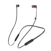 Dacom L06 Bluetooth 4.1 Słuchawki bezprzewodowe słuchawki z pałąkiem na kark Mini sportowe słuchawki douszne Stereo Bass z mikrofonem czarnym