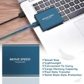 MOVE SPEED New Generation Type-c USB3.1 Interface Portable Mini 1TB Storage Space Solid PSSD Mobile Hard Disk