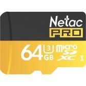 Netac P500 Class 10 SDXC 64G Micro TF Flash Memory Card Data Storage UHS-I U3 High Speed Up do 90MB / s