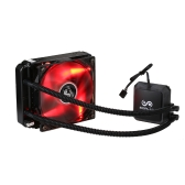 SOPLAY Liquid Freezer Water Liquid Cooling System CPU Cooler Hydraulic Bearing 120mm Adjustable PWM Fan with Red LED Light