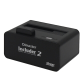 OImaster USB 3.0 HDD Enclosure Docking Station Unidade de Disco Rígido Caddy Base Tool-Free High Speed ​​External SSD Case para 2.5 / 3.5in SATA I / II / III HDD / SSD Preto