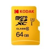 Карта памяти Kodak Micro SD 64 ГБ TF Карта Class10 C10 U1 Быстрая скорость