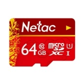 Netac TF(MicroSD)Memory Card U1 C10 Traffic Recorder Monitoring Camera Mobile Phone Storage Card 64GB