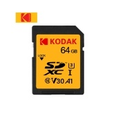 Kodak U3 SD Card 64GB Memory Card UHS-II High Speed V30 SDXC Camera 4K HD Recrding