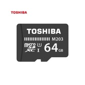 TOSHIBA Micro SD Card 64G TF Card U1 C10 M203 100MB/s Shockproof  High Speed for Phone/Go-pro/Camera/Monitor