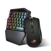 HXSJ K88 BT 4.2 Keyboard Mouse Combo Wireless 35-Key Keyboard Wired Gaming Mouse 3200DPI 7 Buttons LED Optical Computer Mouse Mice