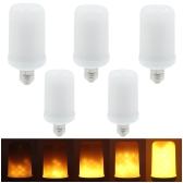 5PCS SMD2835 LED Flame Flickering Effect Light Bulbs