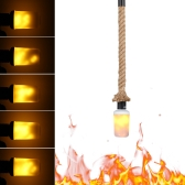 50cm E27 Hanging Pendant Ceiling Light with LED Fire Effect Bulb