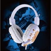 Profissional com fio orelha excesso de Gaming fone de ouvido fone de ouvido com microfone para PC computador