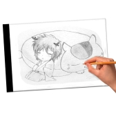 K1 LED Light Drawing Table USB Pad A4 Copiadora Copiando Sketch Tracing Display Black