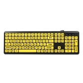 USB Wired Keyboard Large Character Keyboard Home Office Mute Keyboard for Desktop Computer Laptop