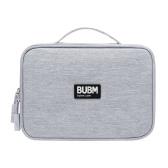 BUBM DPSS-PVC-hui Bolsa multifuncional para armazenamento de mão de grande capacidade Bolsa para acessórios digitais portáteis Tablet / telefone / cabo USB / disco U