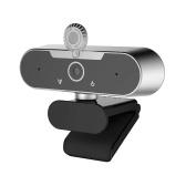 Веб-камера Full HD 1080P Кристально чистое изображение Встроенный микрофон Совместимость 110 ° Просмотр Ангел Шумоподавление Многопользовательские чаты