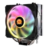 Thermaltake Mercury S400 RGB CPU Cooler PWM Snap-on Fan 4 Direct Contact Heatpipes Through Fin Technology Multi-platforms