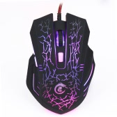 Ergonomic Optical Professional Esport Gaming Mouse Mice Adjustable 5500 DPI Breathing LED Light 6 Buttons USB Wired for Mac Laptop PC Computer