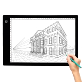 K4 LED Light Drawing Table USB Pad A4 Copy Board Brilho ajustável Copiando Sketch Tracing Display Preto