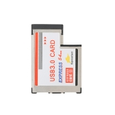 54mm Express Card Expresscard to 2 Ports USB 3.0 Hidden Inside Adapter Converter Hub for Laptop PC with NEC Chipset