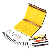 38-piece Precision Computer Repair Tool Kit for iPad iPhone PC Watch Smartphone Tablet Computer Electronic Devices Yellow