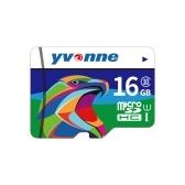 velocidade rápida do armazenamento de dados 16GB do cartão de memória do yvonne micro SDHC TF