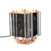 Hydraulic CPU Cooler Heatpipe Fans Quiet Heatsink Radiator for Intel Core AMD Sempron Platform with Blue Light
