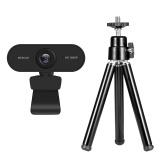 Веб-камера 1080P 2MP HD + портативный мини-держатель для штатива для веб-камеры