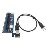 USB 3.0 PCI-E Przedłużacz PCI Express 1X do 16X Rozszerzenie Rozszerzonego Dedykowanego adaptera kart graficznych z przewodem zasilającym SATA 15Pin-6Pin Kabel USB