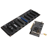Colorful 8 Graphics Cards Plus Coining Mining Motherboard For Intel Bay Trail-D J1900