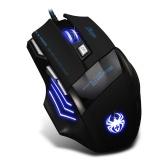 ZELOTES T-80 Mysz do gier 7200 DPI Podświetlenie Multi Color LED Optical 7-przyciskowa mysz Gamer USB przewodowa mysz dla graczy Pro Gamer